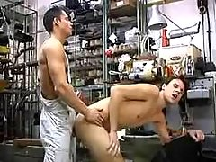 Workers going horny in repair shop