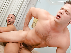 Angel, in a untamed mood, pounds Mario in some crazy, pleasure ways!