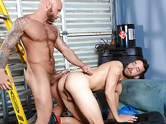 Unmerciful pig fuckers Drake & Isaac explore gritty kink love making act