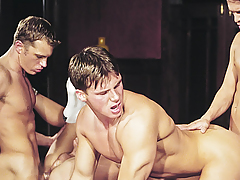 Orgy! Studs Caring Exchanging Tongues & Knobs In Their Holes