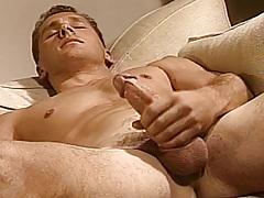 Hugh stokes his good stunning shlong as this guy