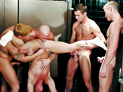 Boys Enjoying An Orgy Of Orally fixating & Ass-tonguing In The Baths