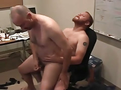 Matured man-lovers pooch mcgee and david marx find office place to bang in 5 movie scene