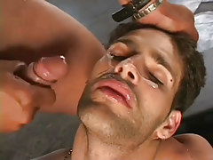 Horny chaps gangbanging stud in appealing group sex in 7 episode