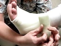 Foot Cast For Poor Evan - Evan Heinze And Ian Madrox