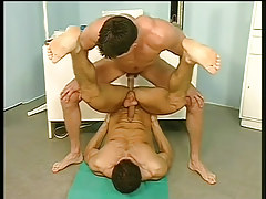 Gay medical kink with wrestlers in 4 video