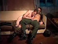 Two military homosexual guys suck each other