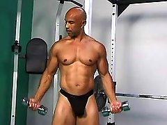Black schlong penetrates firm butt
