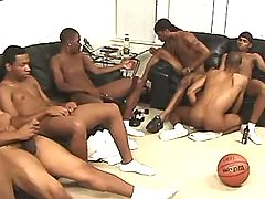 Black homo slummed by handsome stud