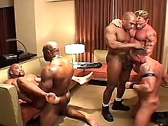 Muscle fruit stallions insane fuck in group