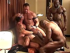 Five grown twinks suck prides and fuck in group sex