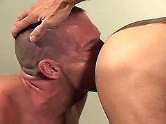 Gay boyish sub sucks mature ramrods by bows