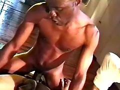 Black man-lover slut serving hungry hunk