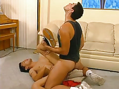 Mature man-lover bonks cute homosexual on floor
