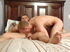Hot homosexual boy sucks his 1st cock