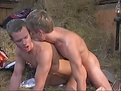 Young gay drills friend behind