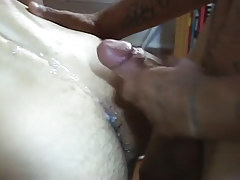 Latin twink boyish sub jizzes on hirsute waste