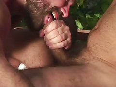 Horny bear twink sucks appetizing cock