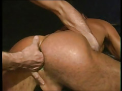 Lusty twink benefits from fingering in fixed rectal opening