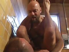Mature bear fruits fuck in washroom