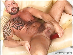 Mature bear gay heavy dildofucks