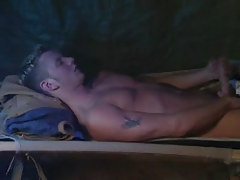 Cute twink masturbates in bed