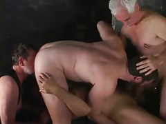 Two old homosexuals have satisfaction with juvenile dudes