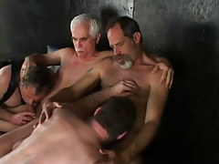 Lusty daddies sucked by males