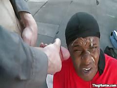 Dark gentleman gains hot facial